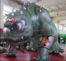 2015 hot sale inflatable dragon blue