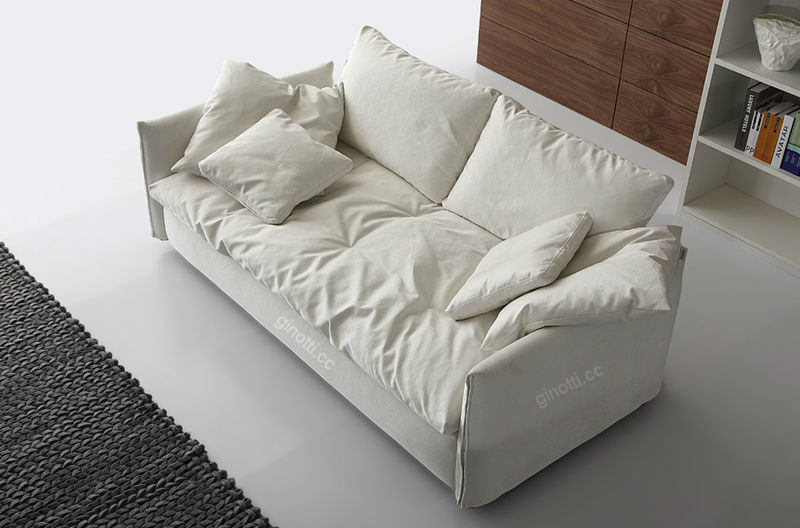 Down Feather Fabric Sofa Gps1076 Loveseat 3 Seater Sofa
