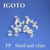 2015 hotsale High quality electrical wire square and circle nail cable clips