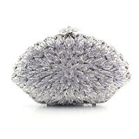 Bling Crystal Damante Minaudiere Evening Party Wedding Clutch Bag