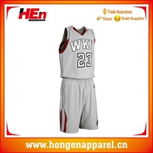 Hongen apparel USA grey basketball jerseys with your name and number