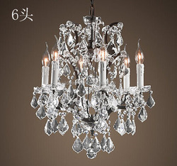 Europe type candle crystal droplight sitting room lamps modern LED lamp contracted hotel lighting