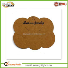 Custom Brown Kraft Necklace Packaging Cards/Necklace Cards