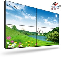 Ultra thin bezel 18mm video wall for advertisment or commercial