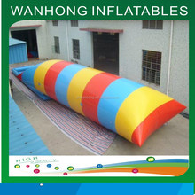 Fascinating inflatable blob jump with 0.9mm thickness PVC tarpaulin, water blob pillow, water air bag