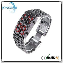 Wholesale price set led watches with iron samurai led watch and iron samurai-japanese inspired red led watch