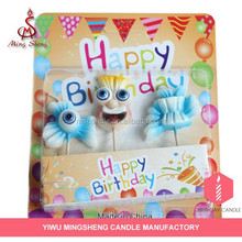 New arrival child funny magic fashion clown birthday candle