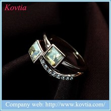 2015 hot sale fashion adjustable 1 gram gold ring latest gold topaz ring designs gold gemstone ring