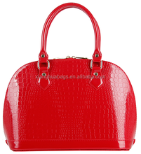 Candy colors patent leather woman bags PU leather bags trendy bags