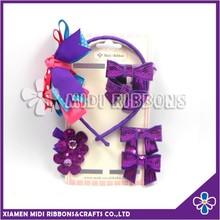 Baby Hair Accessories set Purple Color Gift set Wholesale