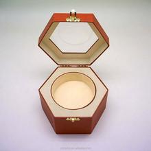 Hexagonal large coated paper gift box Pandora gift box shaped Christmas gift box