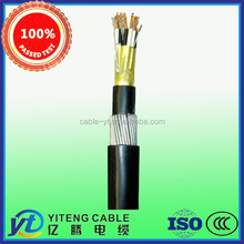 Instrumentation Cable for Industrial with Bare Copper Conductors, Black & White Twisted Pairs