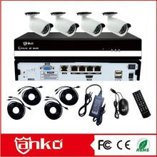 Golden quality Anko-tech Good 4 ch POE cameras ip camera kit