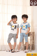 Boy America Style Cute Cartoon Dog Clothing Short Sleeve Dongguan Simple Cotton Pijama Animals
