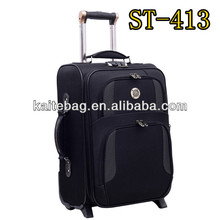 Black color dot fabric new model travel luggage