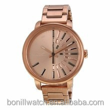 2015 fashion rose gold wrist watc advertisement of watches stainless steel men wholesale