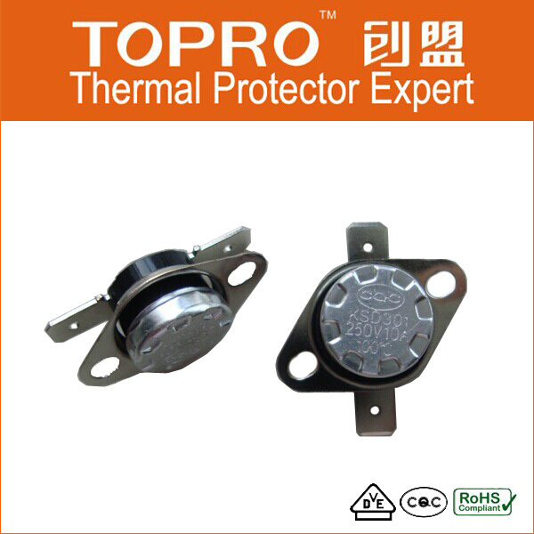 Motor Thermal Overload Protector Bimetal Disc Thermal