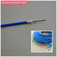 4 core singlemode optical fiber armoured cable