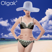 Olgak 2016 Young Girl Printed Leaf Patten Bikini