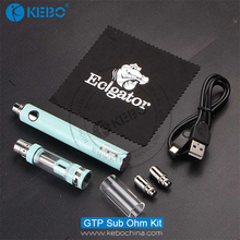 New hot selling sub ohm kit GTP kit hot as the aspire platinum kit with 1600mah battery