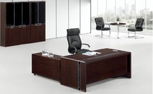 L shape executive desk with side cabinet