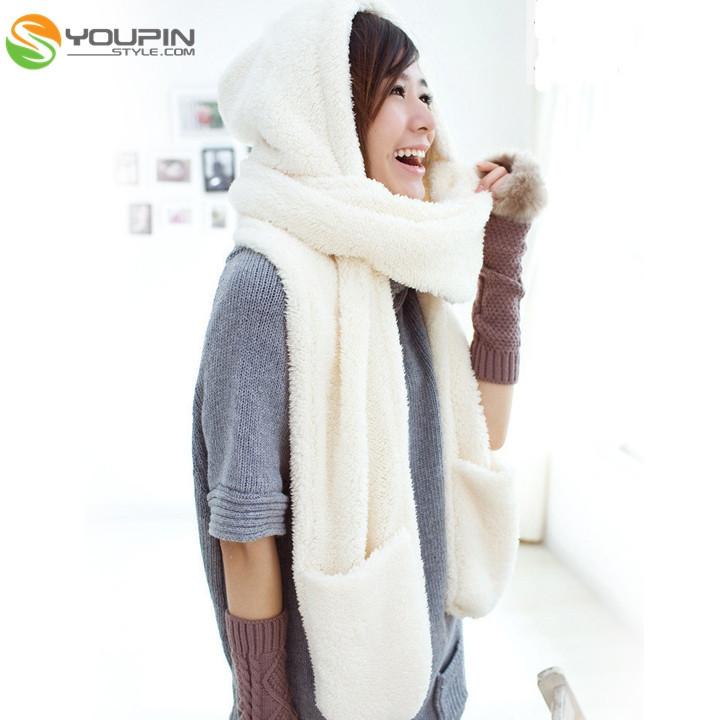 3color женщин девушка шерсть шляпа колпачок ремня шарф перчатки милый Теплый зимний подарок ОК