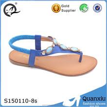 ladies flat summer import women diamond sandals