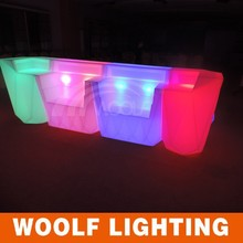 night club furniture bar tables led illuminated bar counter