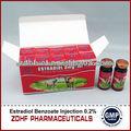 estradiol benzoato de inyección para el uso de animales