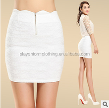 2015 Short Tight Front Zipper Skirt Pure Color Fashion Women Short Mini Skirt