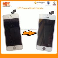 Repair broken lcd screen lcd refurbishment service for iphone 5,for iphone lcd screen repair