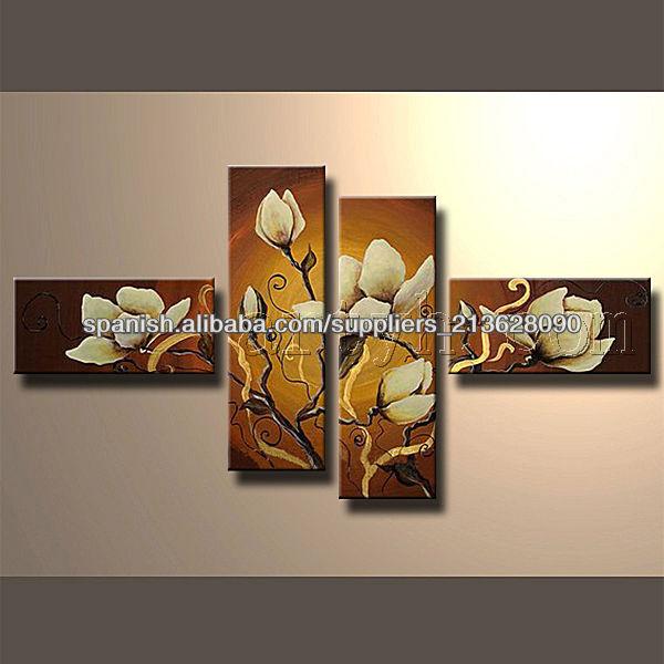 caliente venta de decoración de flores hechas a mano de pintura al óleo