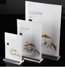 hot sell acrylic menu holder/display stand acrylic made by Enrich model FX-YKLP-1801