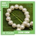 Vente en gros perle ronde naturelle, blanc perles ronde pour faire collier