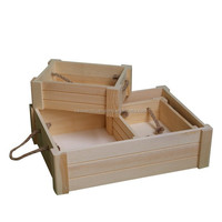 Natural pine wooden boxes / wooden crate /wooden tray for fruits/vegetable