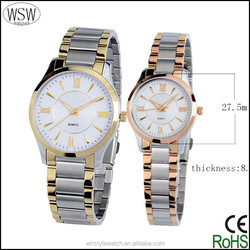 2015 high quality luxury watches unisex, 5atm stainless steel couple lover wrist watch