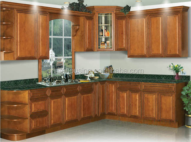 indian wooden kitchen cabinet with optional kitchen