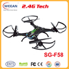 2015-new funny toys helicopter 2.4G large plastic toys quadcopter with one key return function