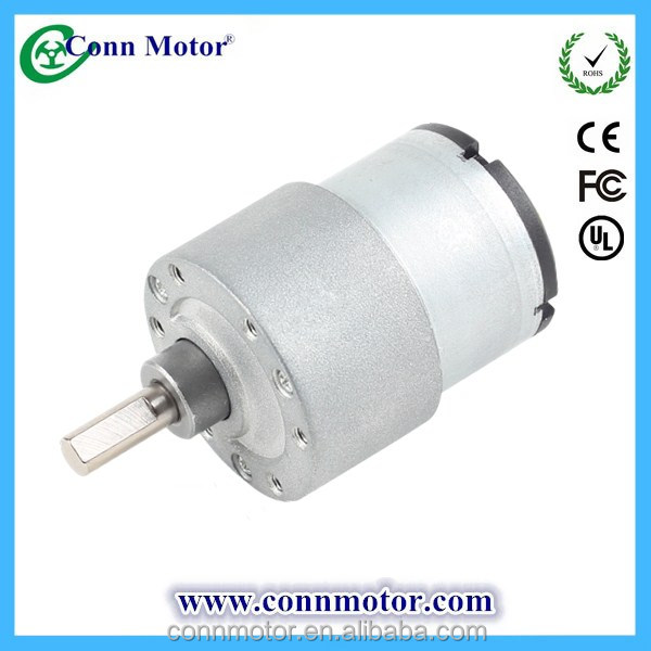 24v small low rpm dc geared motor with metal gearbox for Low rpm electric motor for rotisserie