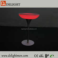 Outdoor 16 color illuminated table for sales/ interactive led table/ led high top party bars