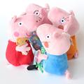 Juego de Peppa Pig Family, juguetes de caricaturas infantiles, 4 unidades/juego, Peppa Pig, Pepa/Pepe/Pink/Pepper, muñecos animales de cerdos en felpa para niños