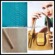 PVC snake skin fabric for lady handbag leather usage can make kinds of animal design