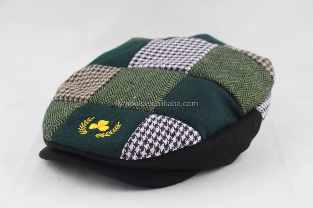 Wholesale Custom Newsboy Embroidery Logo Hat Ivy Cap - Buy Caps And ...