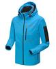 Light Blue Women softshell jacket polyester spandes bonded polar fleece