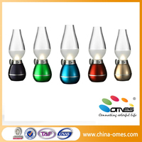 China factory new blowing rechargeable led retro lamps