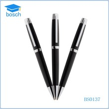 New Brand Fancy Free Sample black metal ball pen