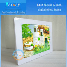 Hot sell 12 inch mirror waterproof digital photo frame,HD video input to digital frame for advertising