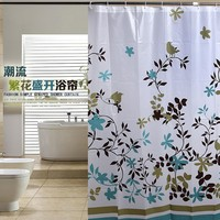 """Uomere New Big Size Shower Curtain Floral Tree Waterproof Bath Curtains 72x72"""""""