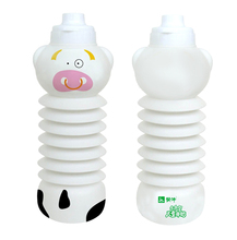 OEM&ODM cartoon cat & cow design plastic water bottle