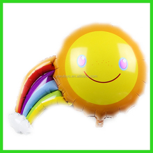 colorful rainbow shape balloon for party